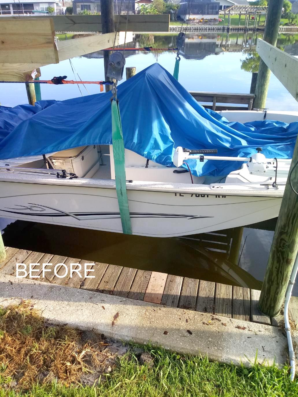 1-Palm-Coast-boat-sling-to-cradle-conversion