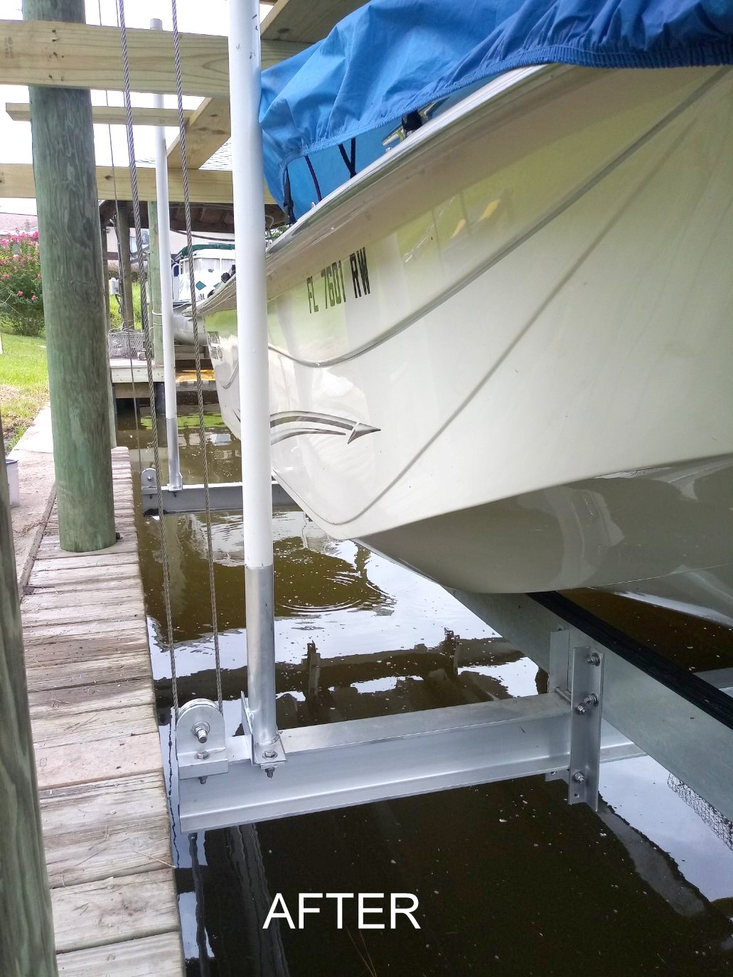 4-Palm-Coast-boat-sling-to-cradle-conversion
