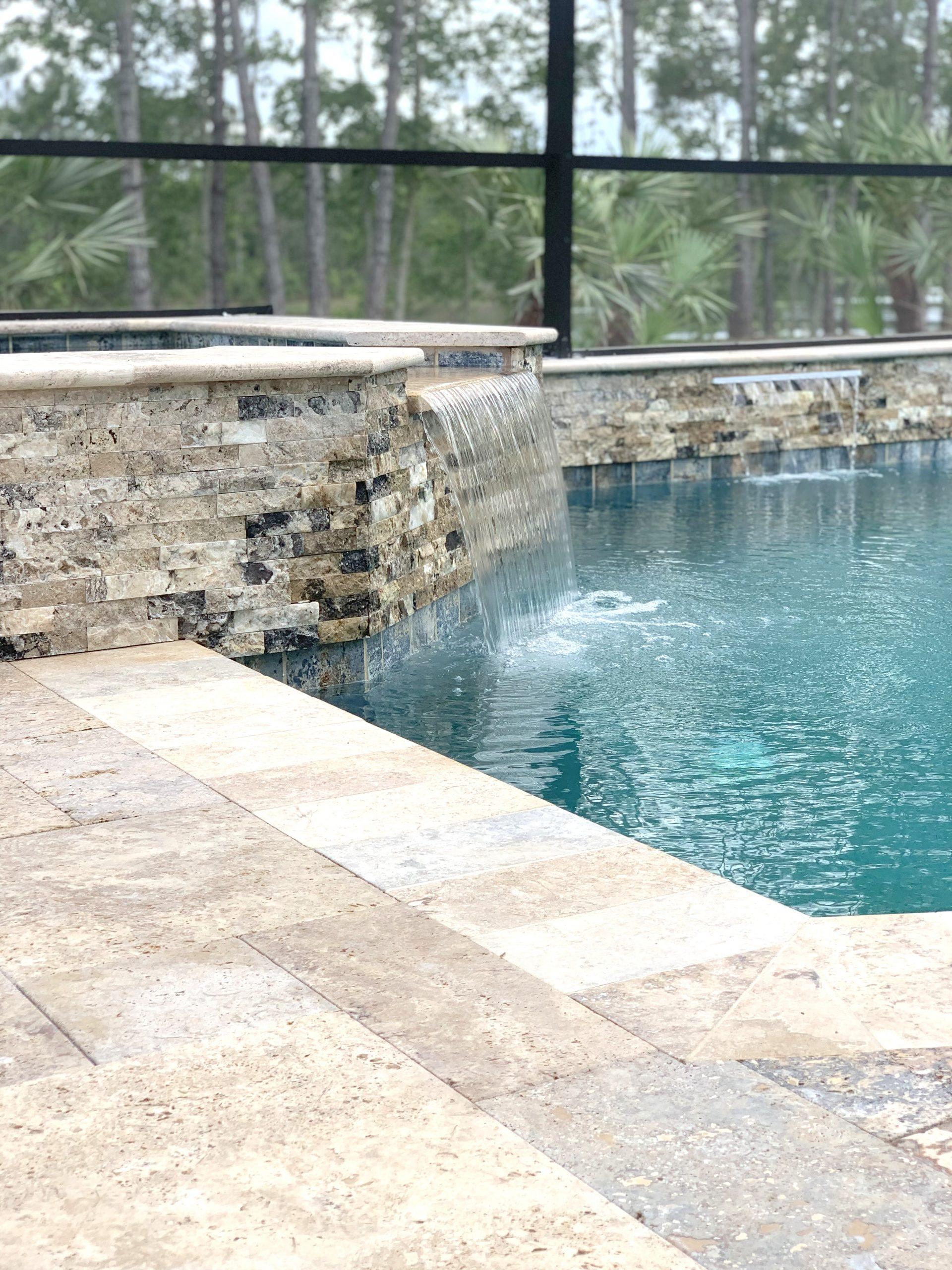 3-Port-Orange-pool-builders-raised-spa-with-waterfall-scaled
