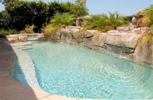 model house pool