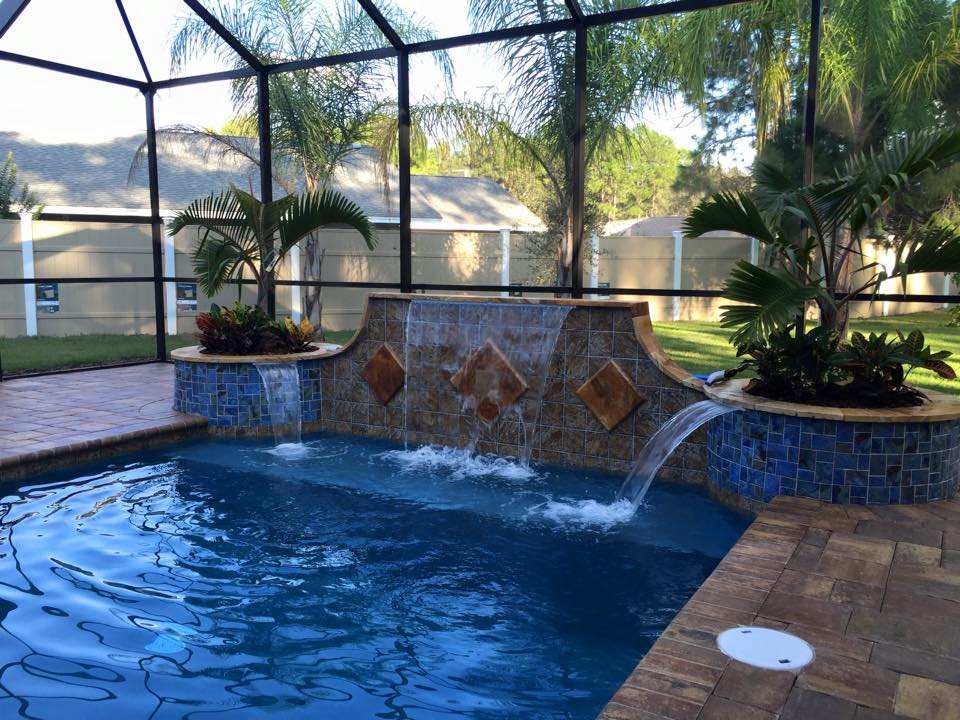 One of a kind custom pool construction in palm coast for Custom pool builder