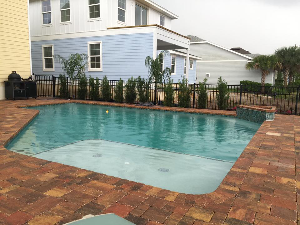 custom pool with sundeck in st augustine
