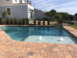 custom pool with waterfalls and jets in st augustine