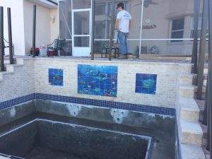 Work in progress - custom spa in C Section of Palm Coast
