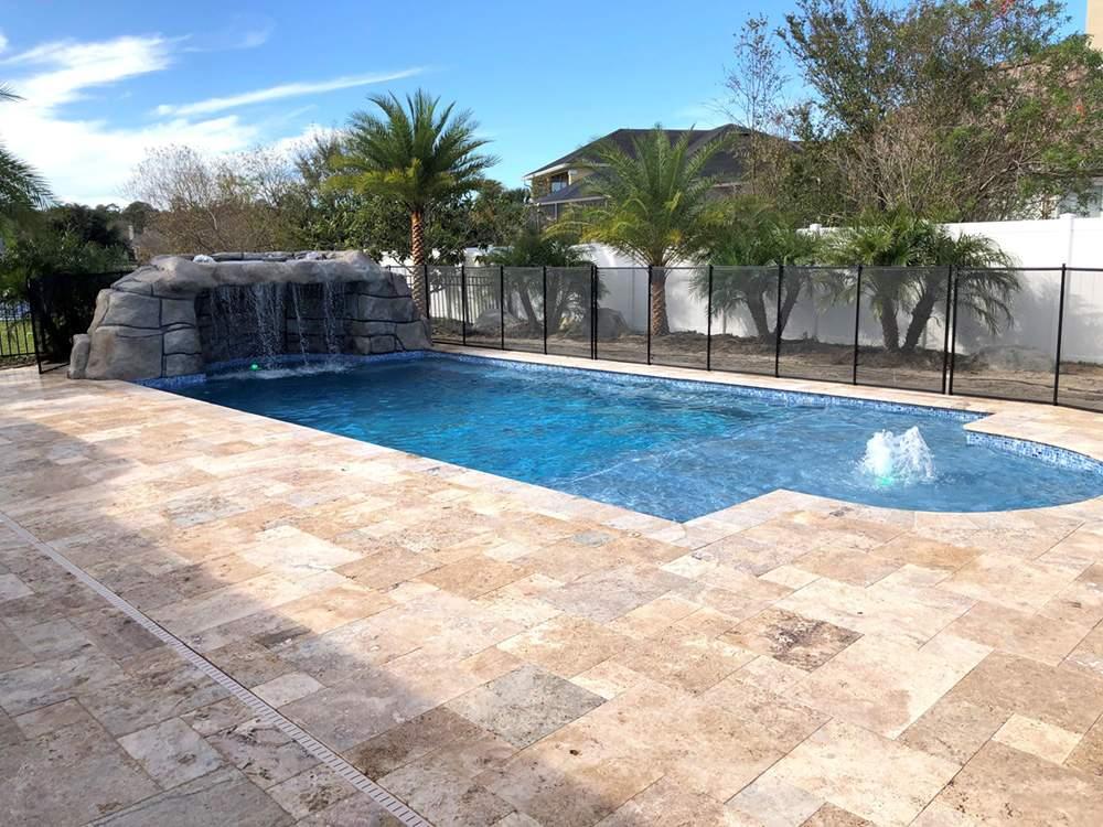 Custom swimming pool design and construction.